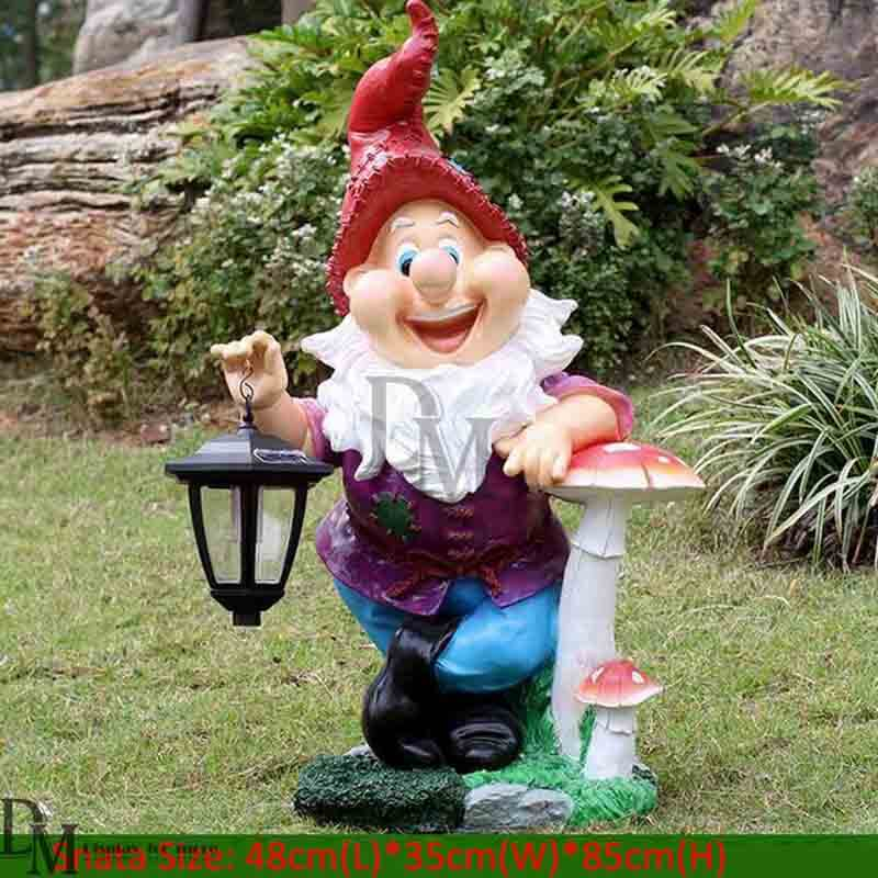 fiberglass standing garden gnomes ornaments hanging lamps - Garden Gnomes For Sale