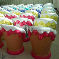 big ice cream cone display
