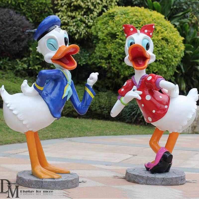 Fiberglass Donald Duck Garden Statue Dm Figurines Display