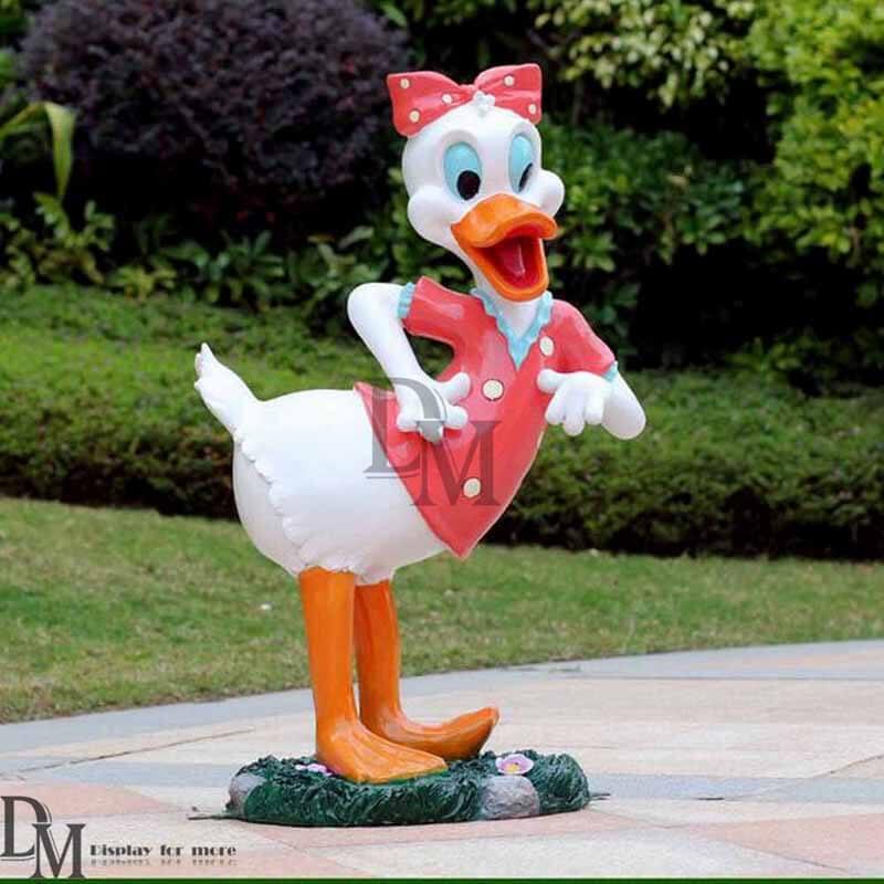 Large Disney Donald Duck Garden Statue Display - Fiberglass Donald Duck Garden Statue DM Figurines Display