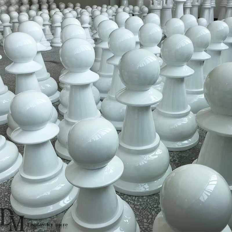 Oversized Chess Pieces In Law Garden