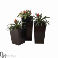 Black Square Plant Pot
