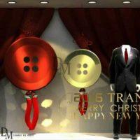 Men's Clothing Window Display