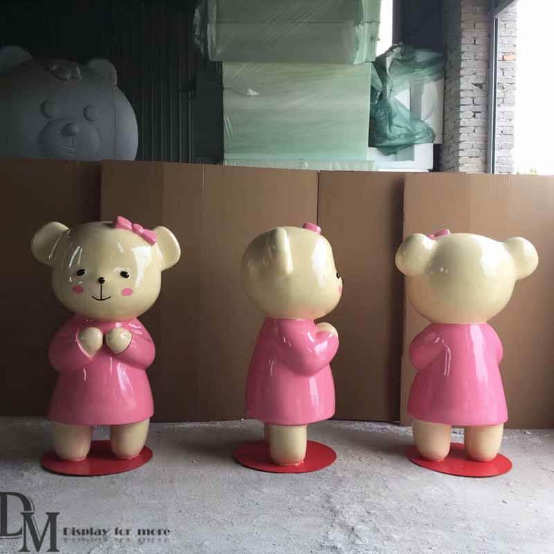 Fiberglass Bear Figurines for Outdoor Decoration | DM Statue