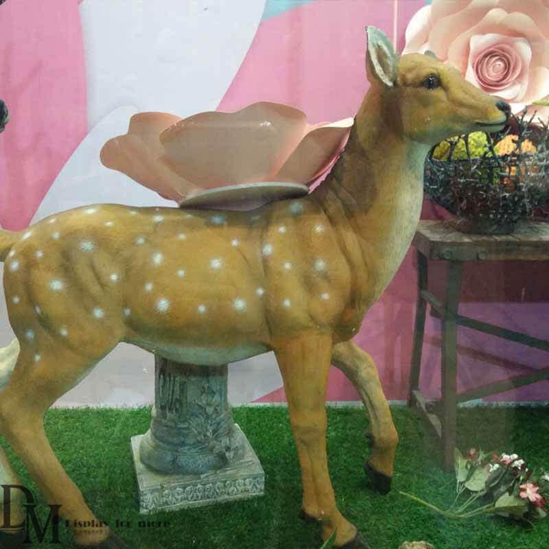 Deer Statues Outdoor Decor Elk Statue For Summer Window