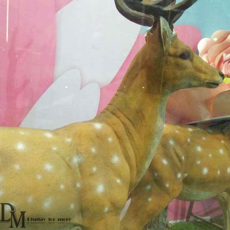 Deer Statues Outdoor Decor Fiberglass Deer Statue For