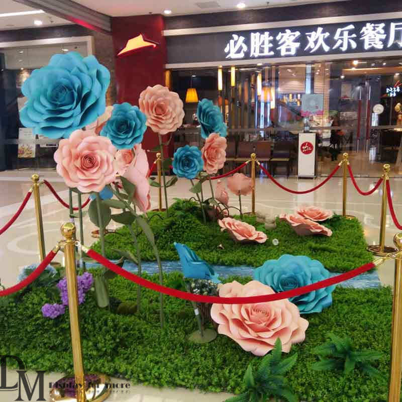 Craft Giant Paper Flowers For Spring Window Display Dm