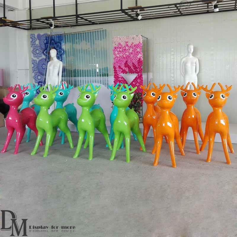 Fiberglass Deer - Fiberglass Deer Yard & Garden Ornaments DM Animal Statues