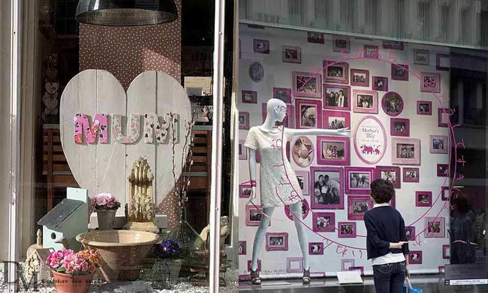 mothers day florist window display
