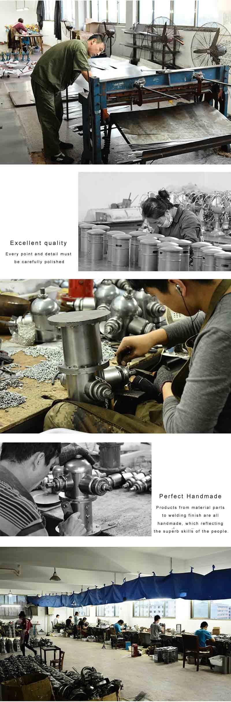 Fiberglass statue production flow