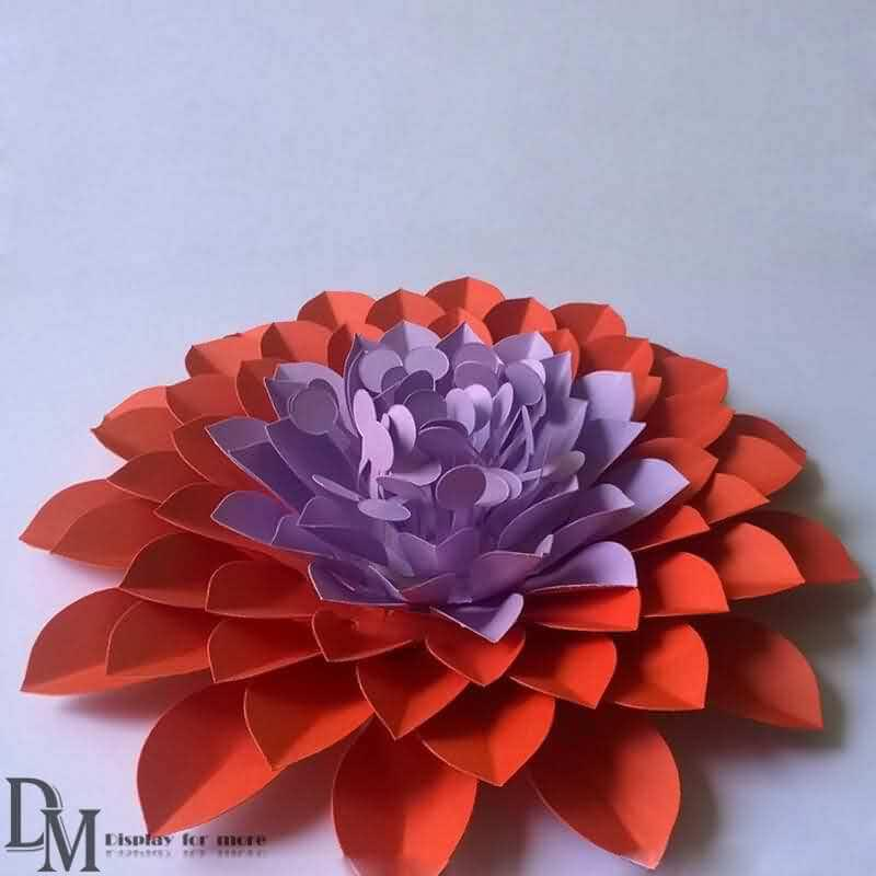 Large handicraft paper flower manufacturer dm window display large color handicraft paper flower for wholesale mightylinksfo