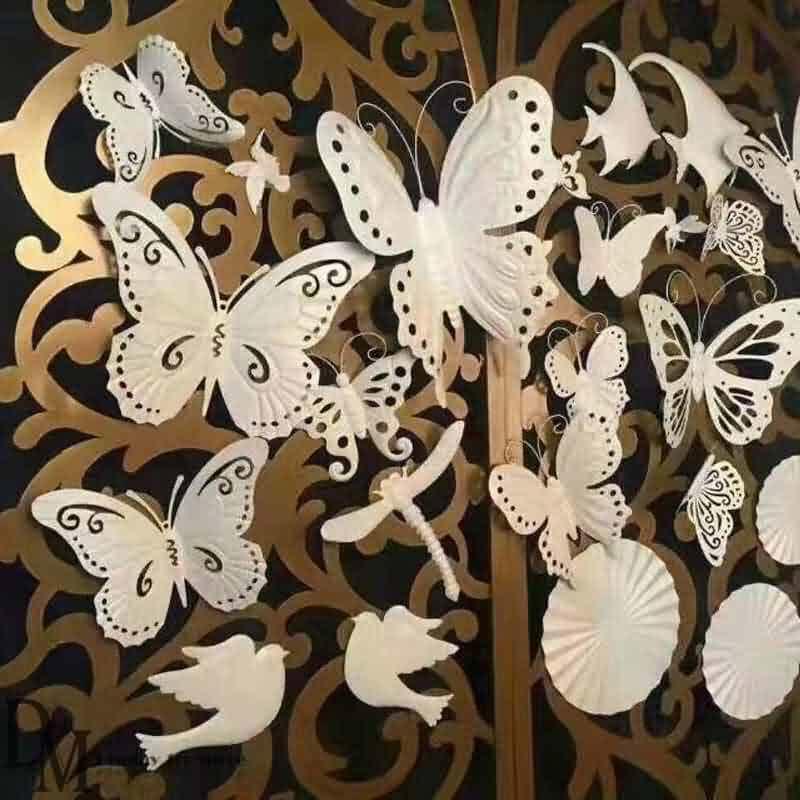 Metal art butterfly wall decor