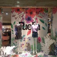 Spring retail window displays