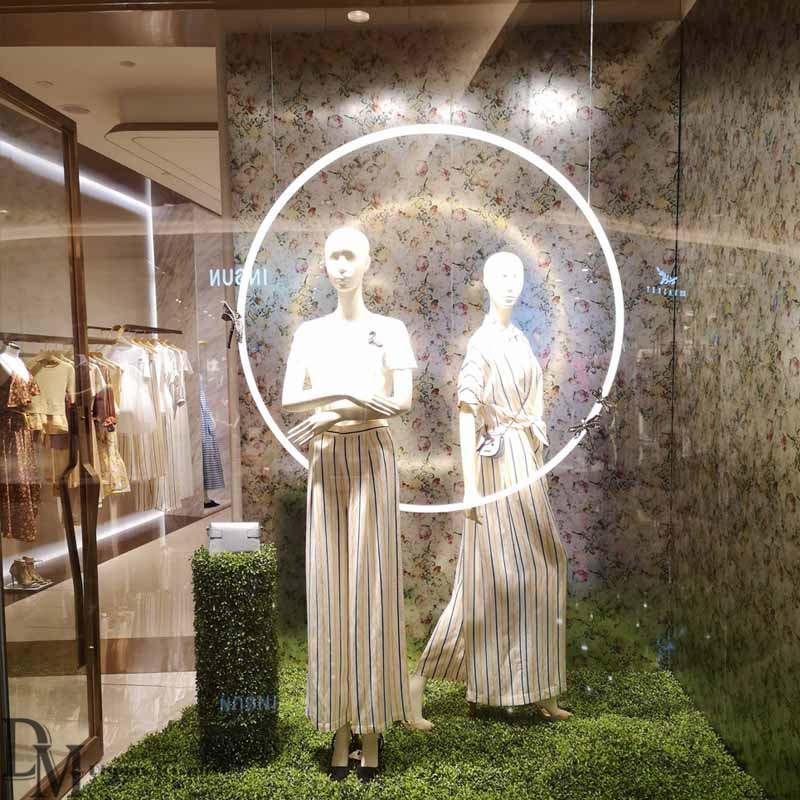 spring retail window displays