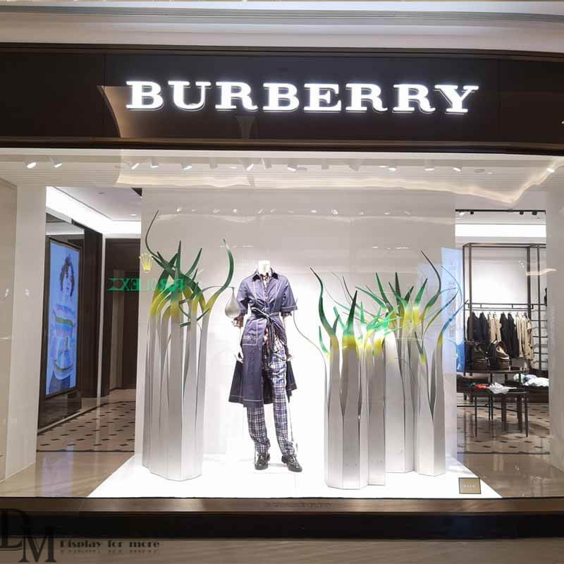 Burberry window display