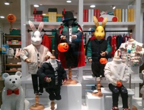Easter Window Displays for Children's Wear Store