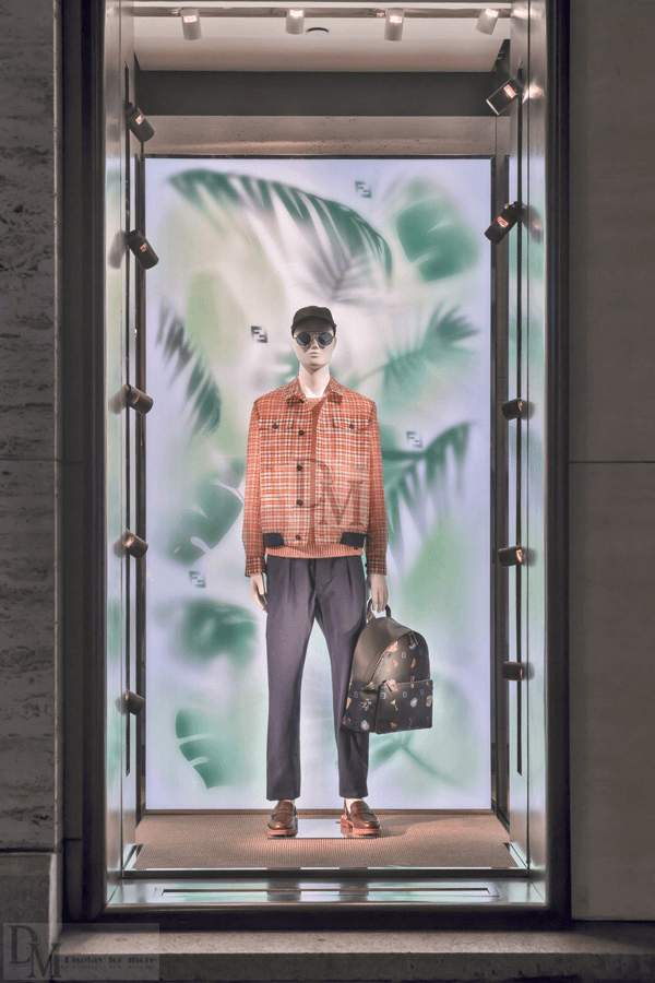 Fendi window displays for spring