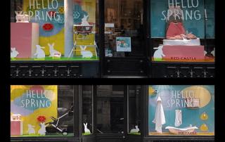 Easter shop window displays