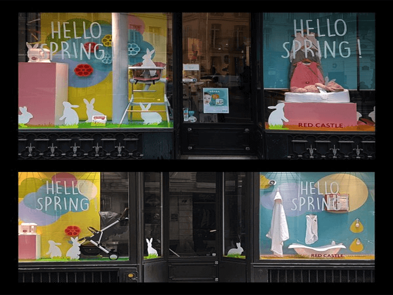 Easter shop window displays