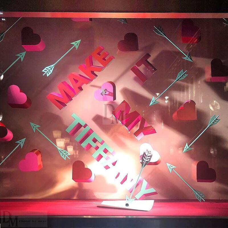 valentines window display