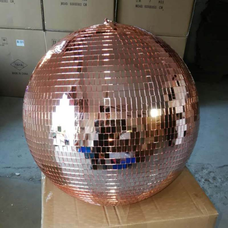 Champagne gold disco ball