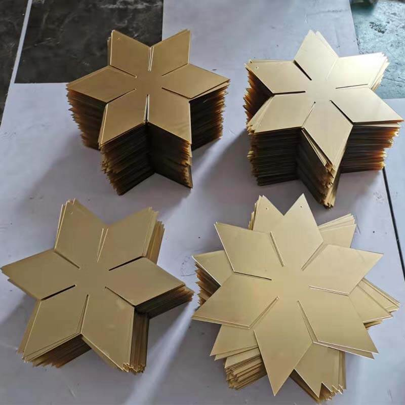 acrylic star shapes