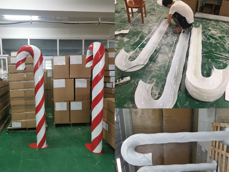Candy Cane Props for Christmas Display